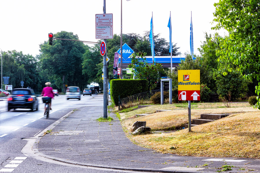 wegleistsystem-Westfalen-Tankstelle