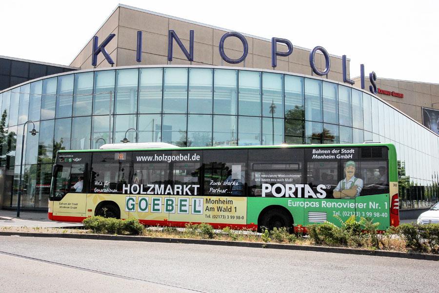 AUPRION-Buswerbung-Ganzgestaltung-PLUS_Leverkusen-Portas