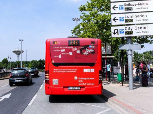 Buswerbung – Heckfläche und Heckfläche PLUS