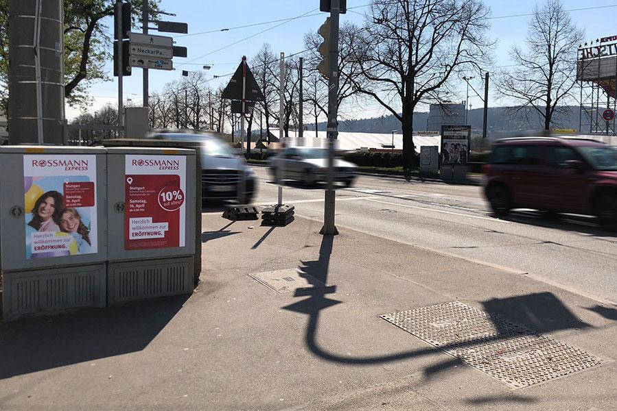 AUPRION-Aktionsmedien-Aktionsplakate-Stromkatsen-Rossmann-Stuttgart-Eroeffnung-Canstaetter-Vasen